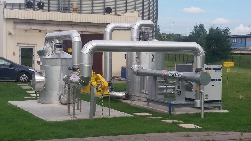Osuszacz biogazu, dmuchawa w ramach realizacja CES dla MPWiK Kraków