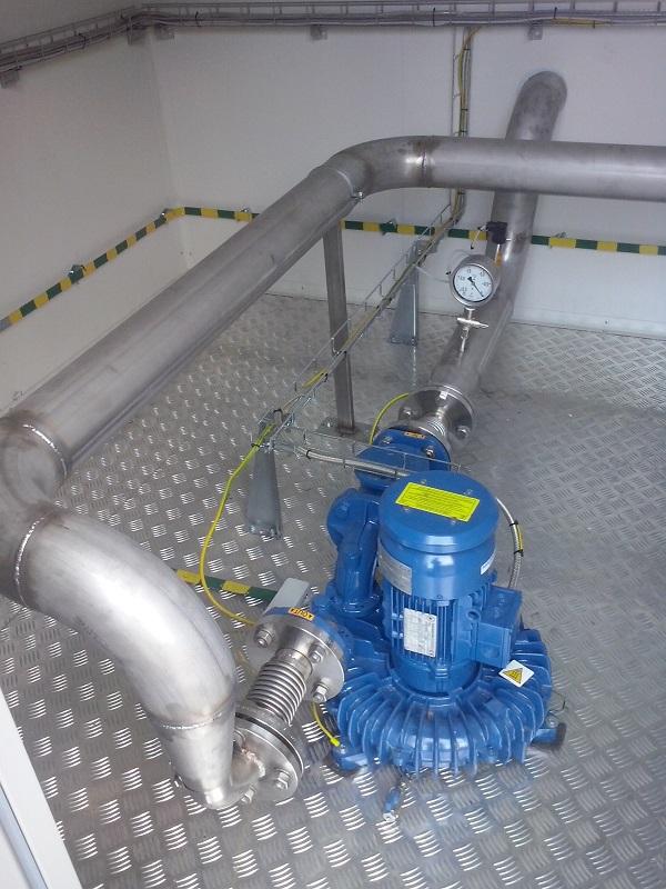 Dmuchawa biogazu.Realizacja CES dla Zakładu Zagospodarowania Odpadów Komunalnych w Bladowie