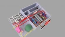 Wizualizacja pomieszczeń w biogazowni Boleszyn, gdzie zostaną zainstalowane dodatkowe agregaty kogeneracyjne